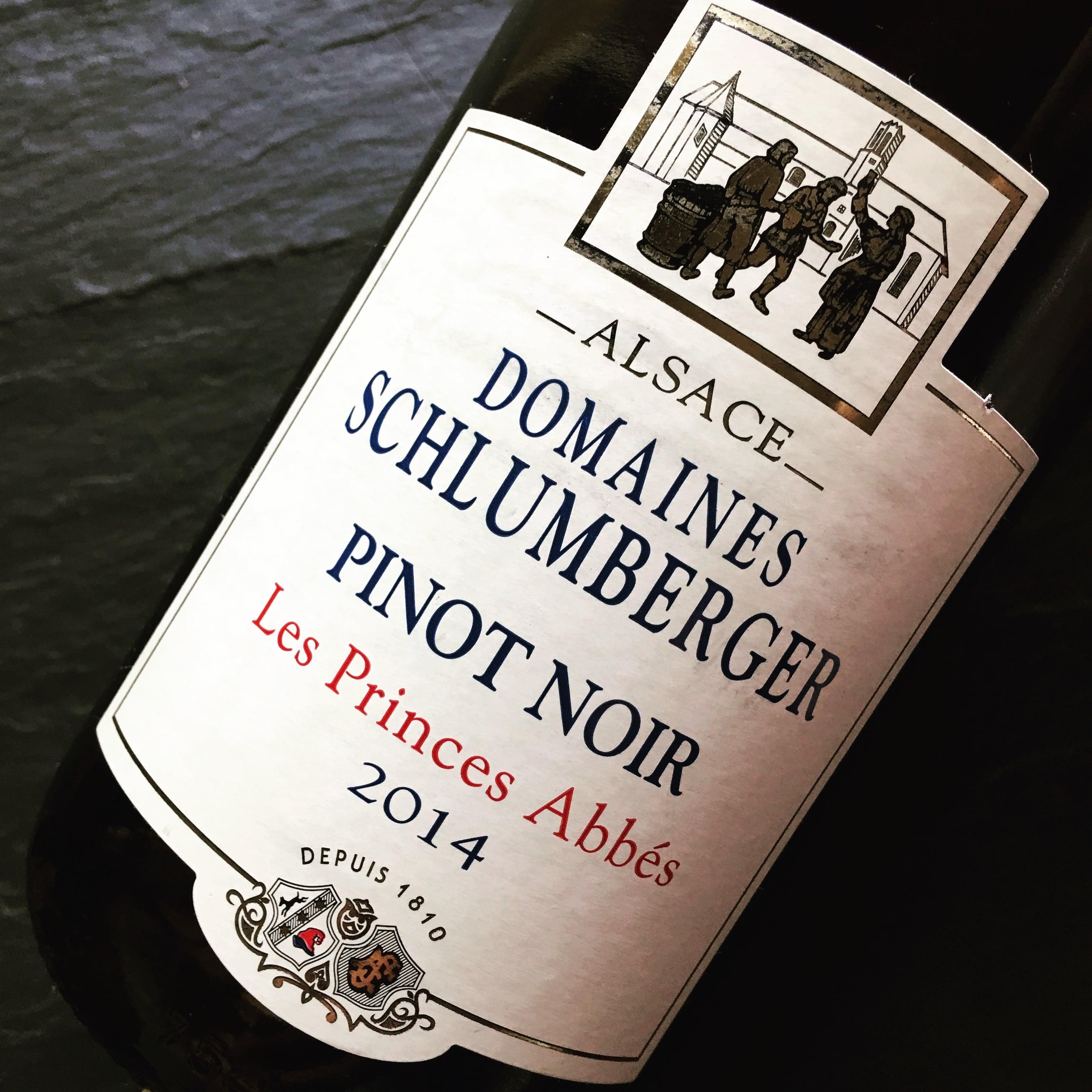 Domaines Schlumberger Les Princes Abbés Pinot Noir Alsace 2014