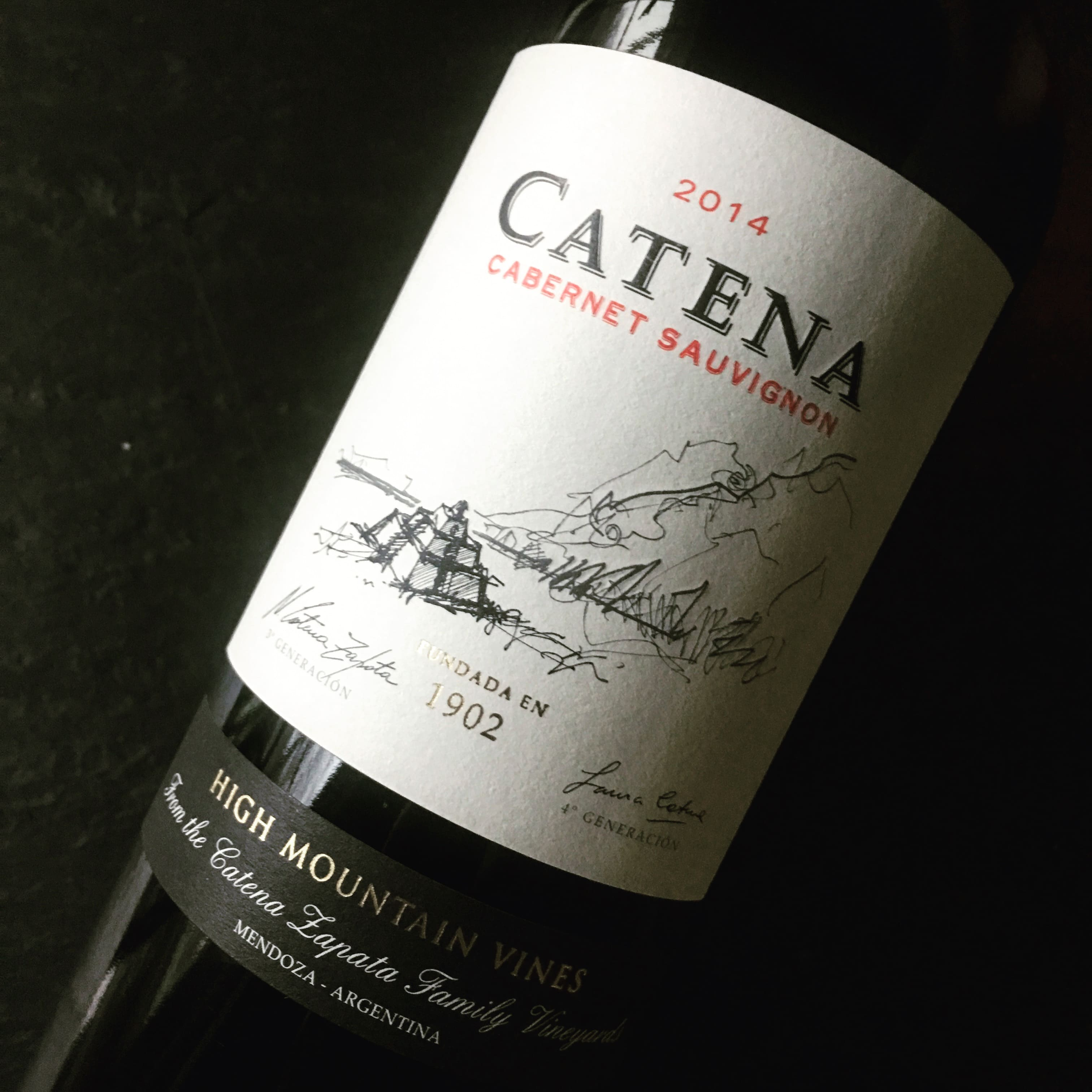 Bodega Catena Zapata Cabernet Sauvignon High Mountain Vines 2014