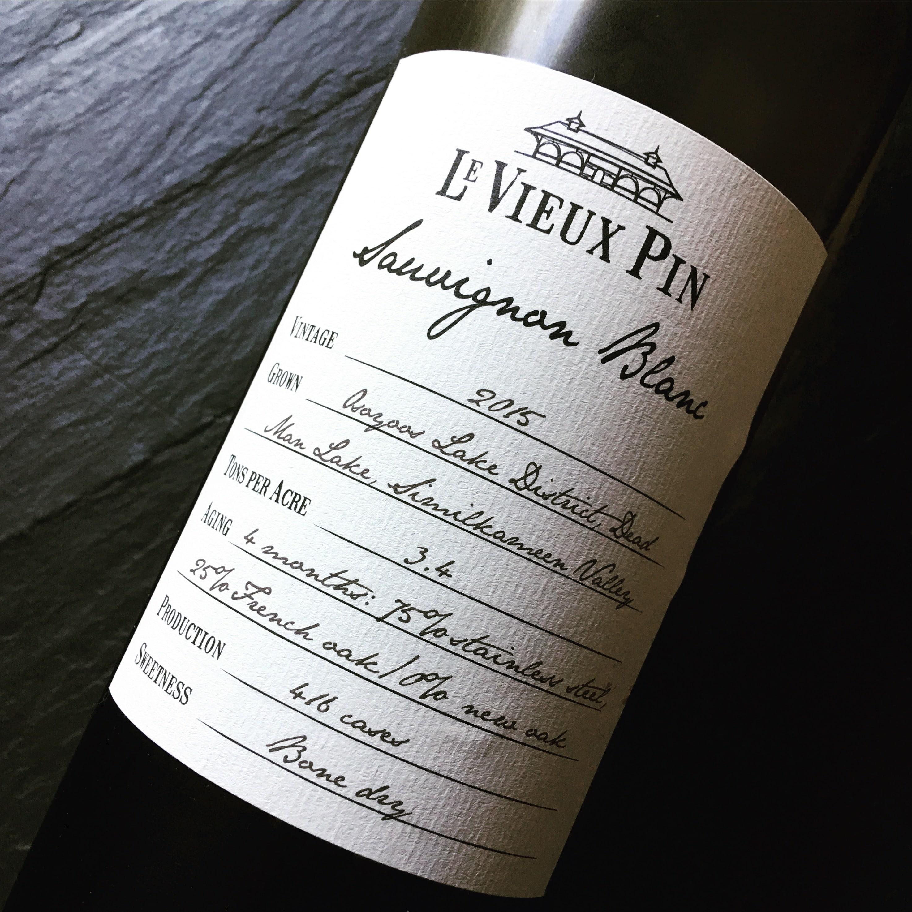 Le Vieux Pin Sauvignon Blanc 2015