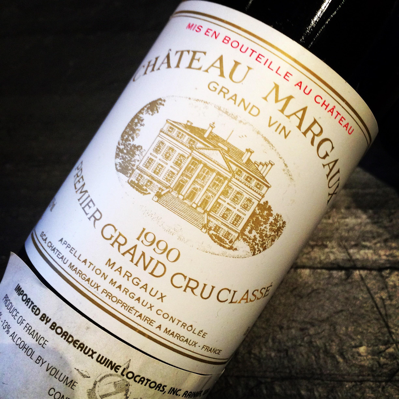 Château Margaux Grand Vin Premier Grand Cru Classé 1990