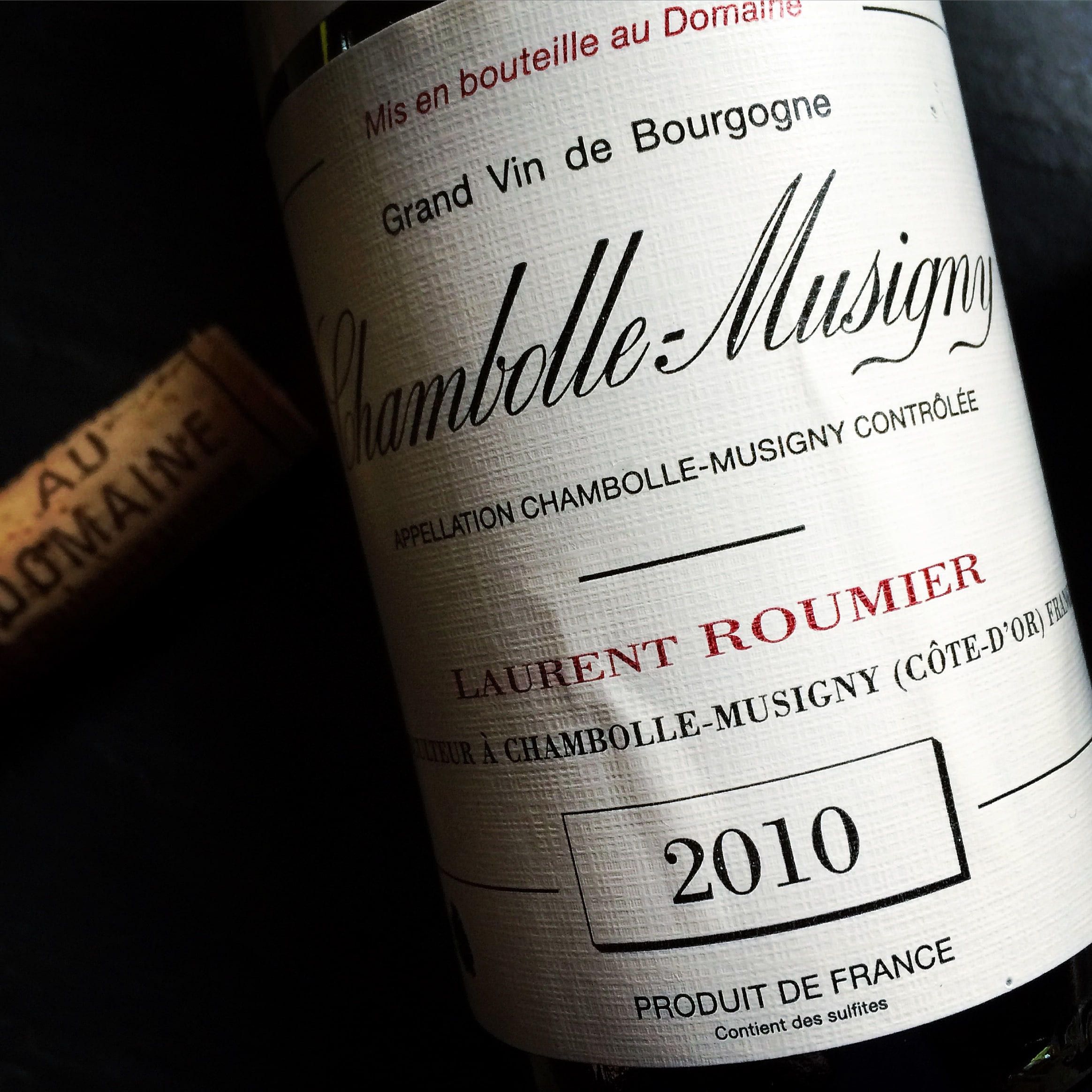 Laurent Roumier Chambolle-Musigny 2010