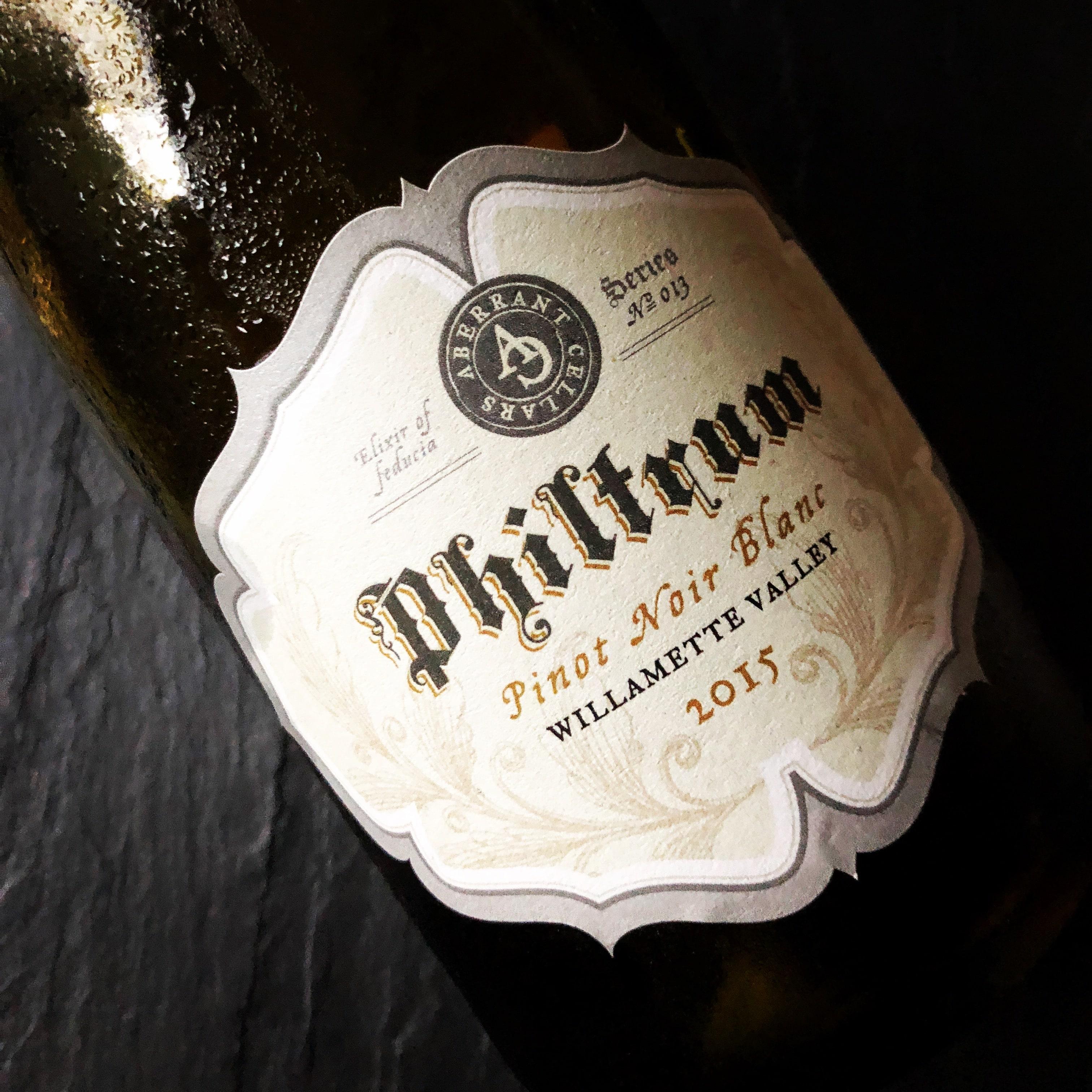 Aberrant Cellars Philtrum Pinot Noir Blanc 2015