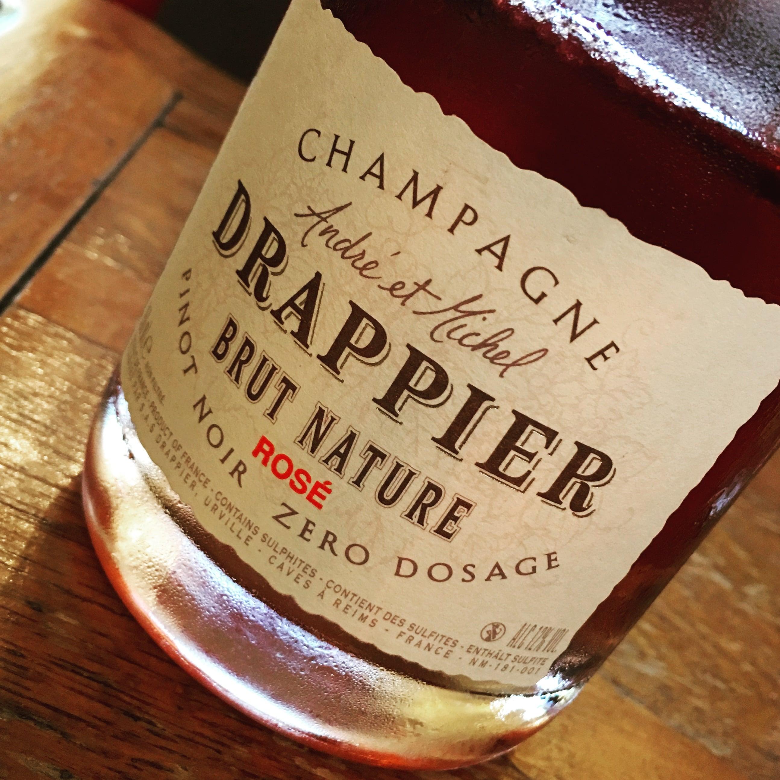 Drappier Champagne Rosé Brut Nature Dosage Zero NV