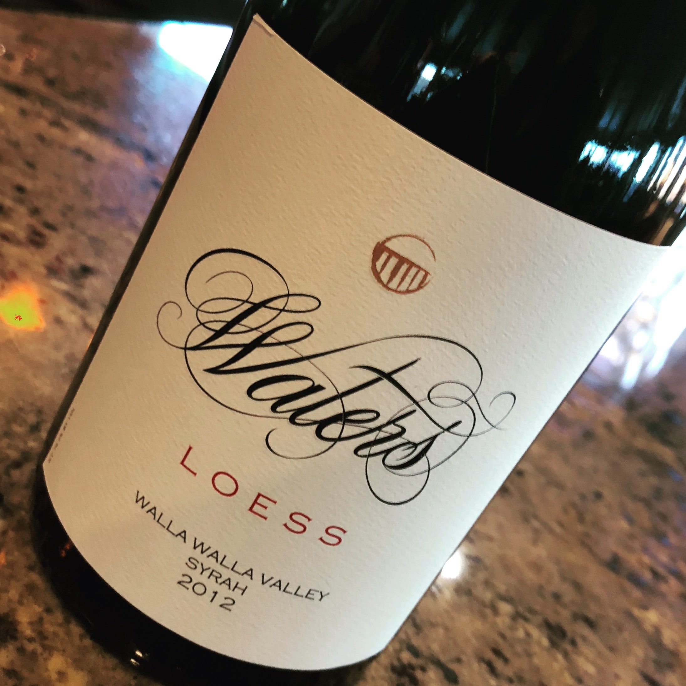 Waters Loess Vineyard Syrah 2012