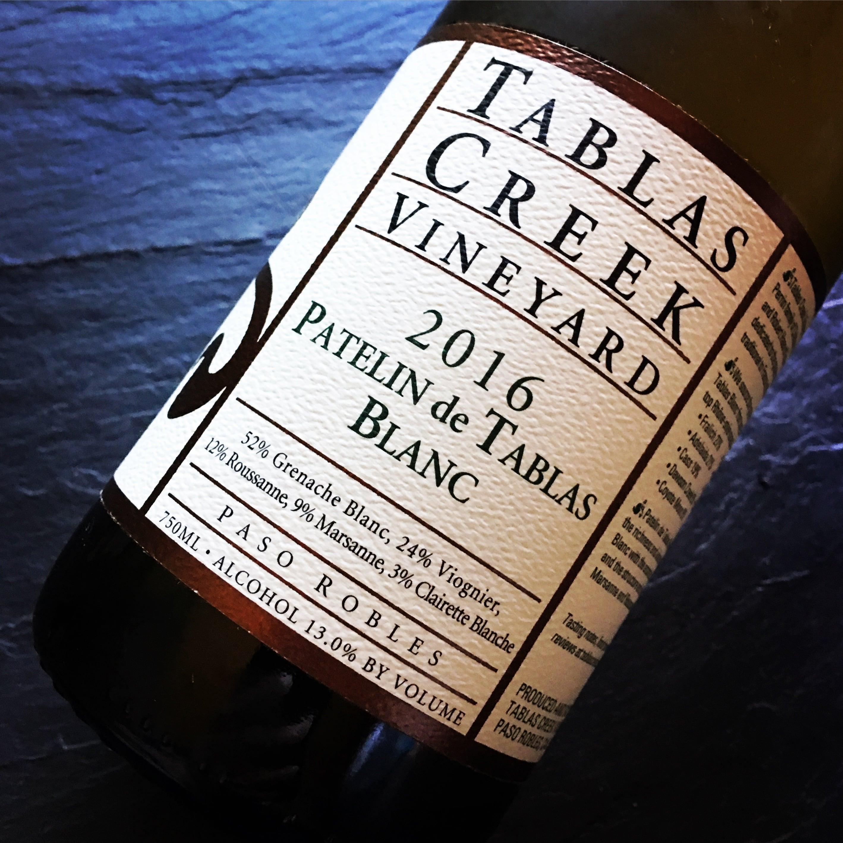 Tablas Creek Vineyard Patelin de Tablas Blanc 2016