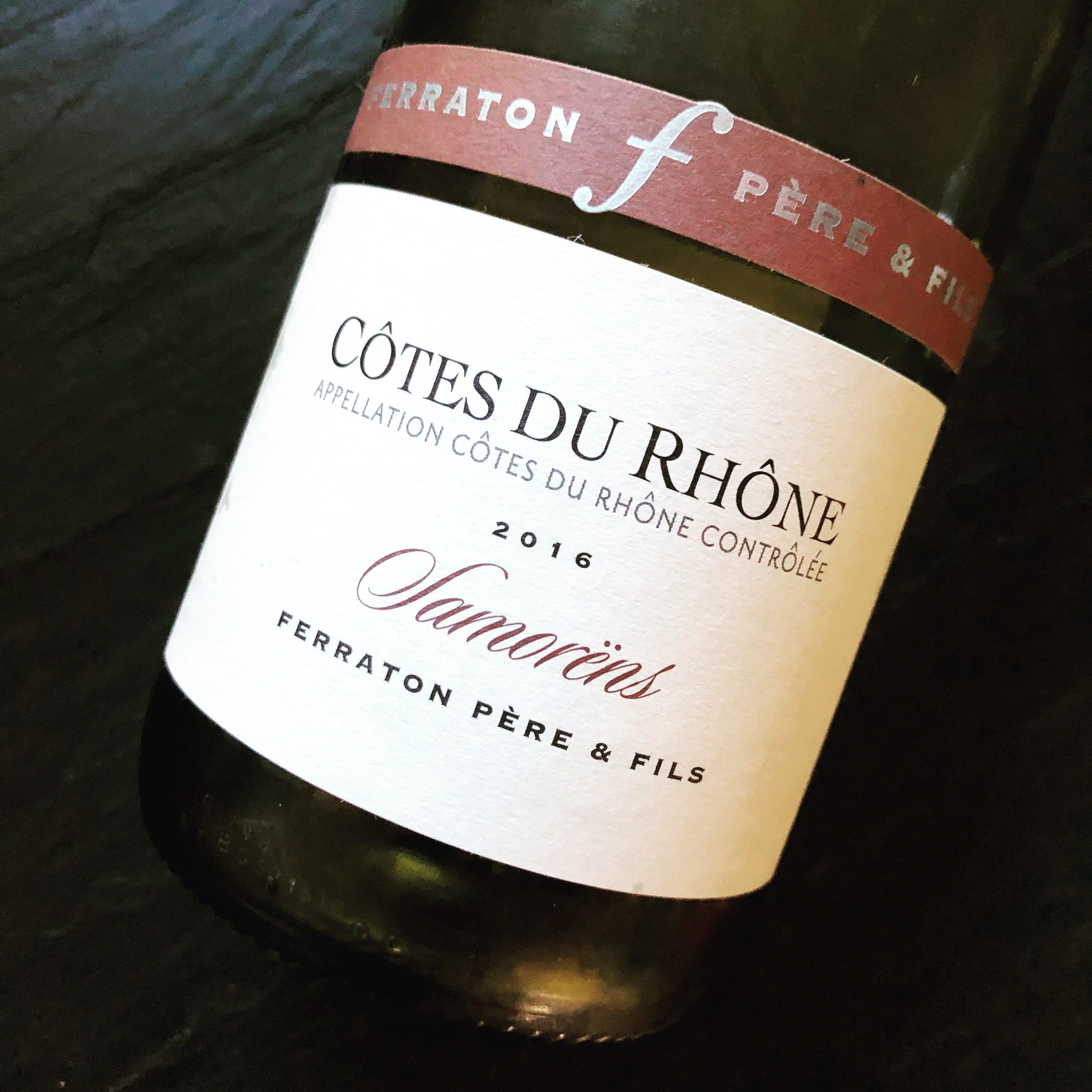 Ferraton Pere & Fils Côtes du Rhône Samorëns Blanc 2016