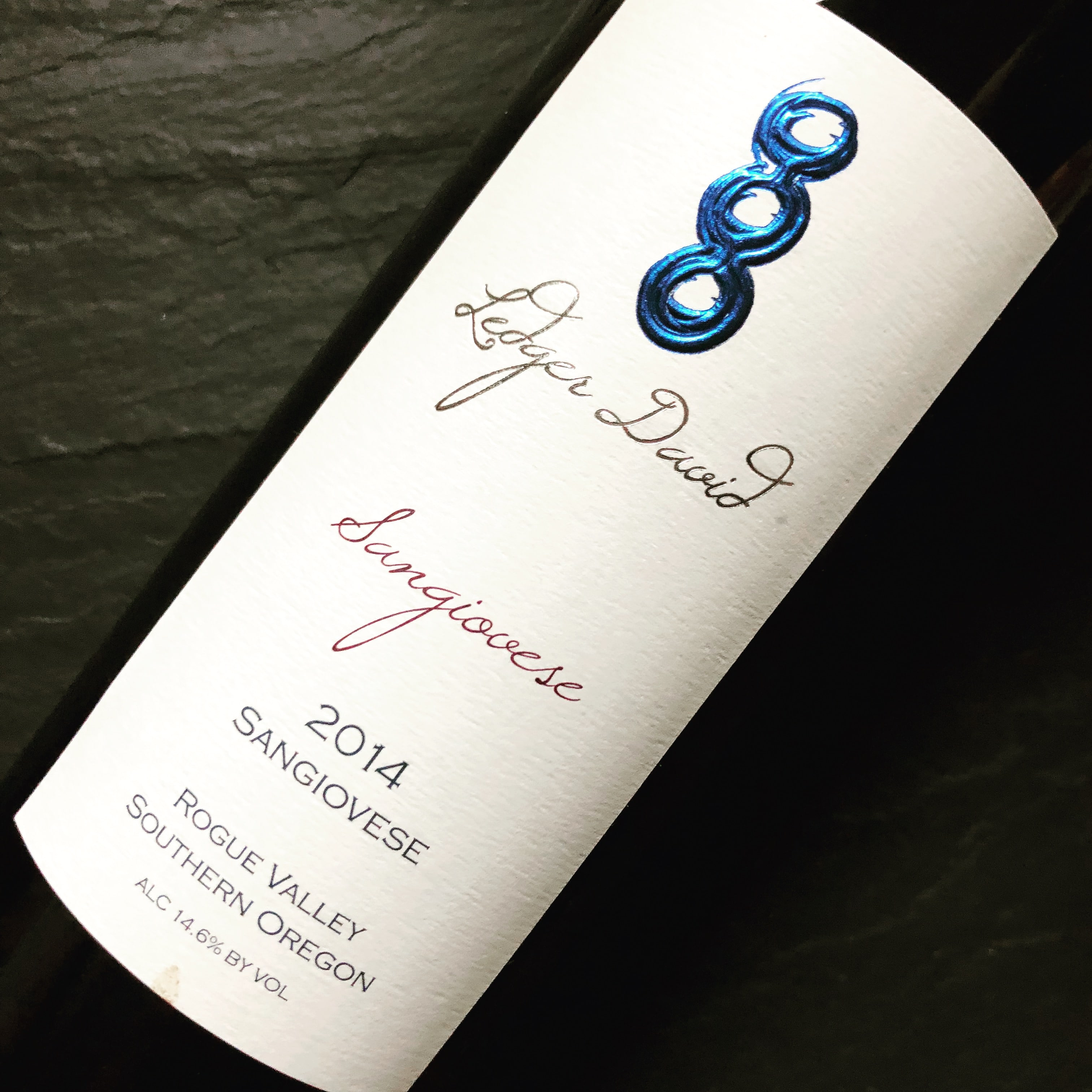 Ledger David Rouge Valley Southern Oregon Sangiovese 2014